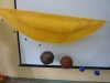 Model of Solar system made by pupils to explain the size of the planets and distances.